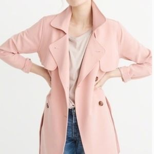 Abercrombie Trench Coat Light Pink NWT Size S